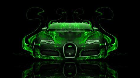 green bugatti gold bugatti veyron with neon bugatti veyron front green