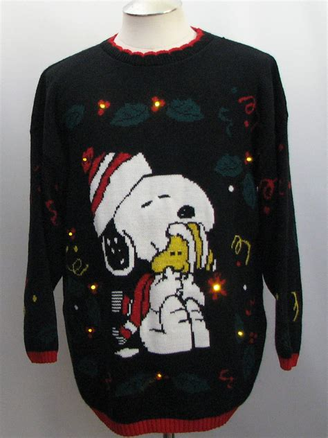 vintage snoopy ugly christmas golden amber light