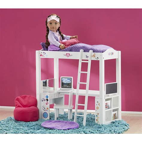 american bunk bed with desk doll furniture loft bed desk set made to fit american