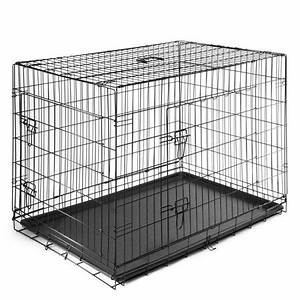 smithbuilt folding metal dog crate double door cage With dog crates for multiple dogs