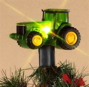 john deere tractor christmas tree topper