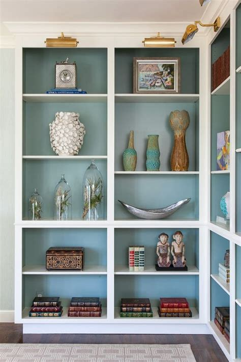 painted bookshelves color creative bookshelf styling and layering tricks