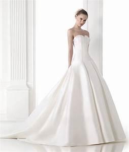 maeve style mikado silk princess wedding dress pronovias With mikado silk wedding dress