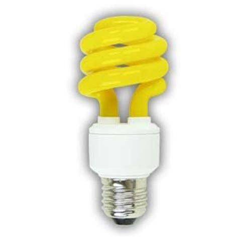 13w yellow bug light spiral cfl superior