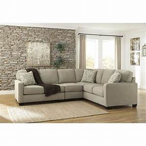 Ashley furniture alenya 3 piece sectional sofa in quartz for Small sectional sofa ashley furniture