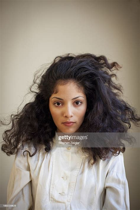 Portrait Of Beautiful Young Latina Woman High Res Stock