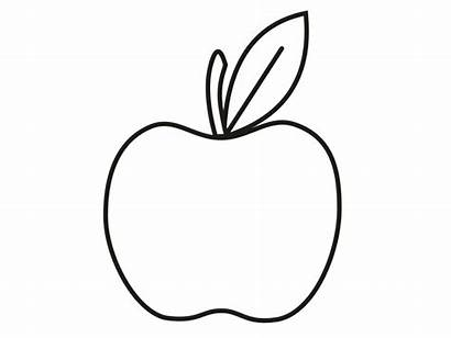 Apple Outline Coloring Pages Printable Clip Apples