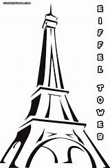 Tower Coloring Pages Eiffel Building sketch template