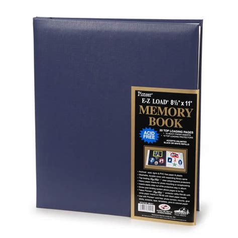 pioneer   top load family memory book album  page