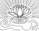 Sunrise Coloring Drawing Pencil Lotus Flower Printable Designlooter Drawings 69kb 479px Getcolorings Getdrawings sketch template