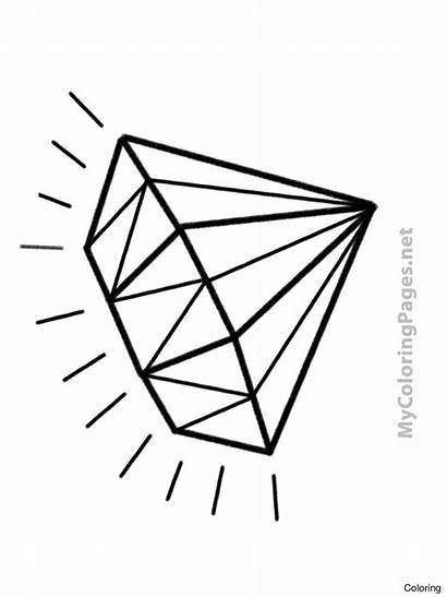 Coloring Diamond Printable Pages Tattoo Drawing Template