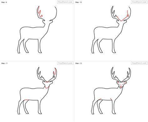 fpencil   draw deer  kids step  step