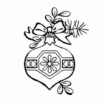Coloring Pages Christmas Ornament Ornaments Clipart Decorations