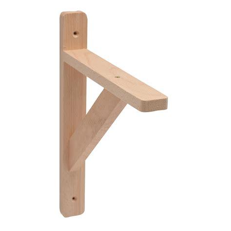 Bathroom Shelves B Q by B Q Brackets Stained Beech Effect Timber Shelf