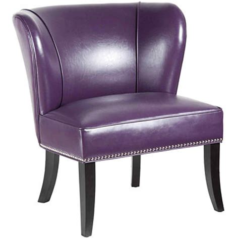 purple sabrina accent chair decor by color