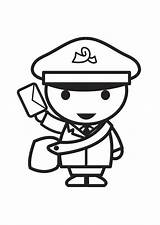 Coloring Pages Postman Sheets Toddlers Google Mailman Printable Clip Help Brown Preschool Toddler sketch template
