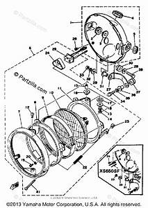 Yamaha Motorcycle 1978 Oem Parts Diagram For Headlight
