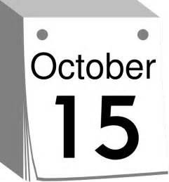 October Calendar Date Clip Art