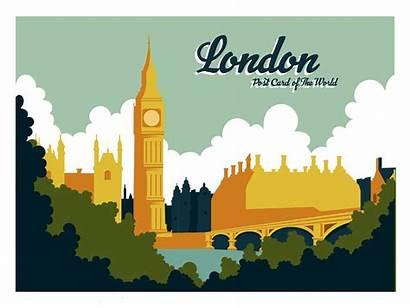 London Postcard Vecteezy Postkarte Clipart Vektor Brochure