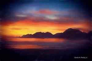 Digital Pastel Drawing of a Sunset at Adak Island ...