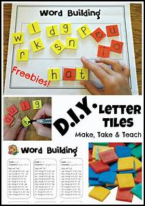 diy letter tiles and a freebie make take teach With letter tiles for making words