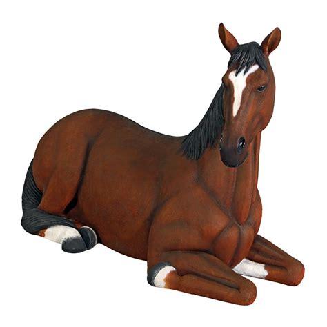 horse quarter statue filly resting toscano garden amazon outdoor lawn statues patio sculptures
