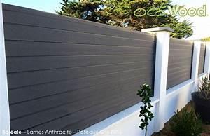 cloture de jardin en panneaux composites boreale par With amenagement exterieur jardin moderne 5 brise vue aluminium moderne jardin angers par
