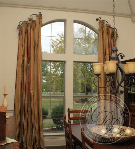 arched window treatment window treatments pinterest