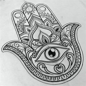 44 best Hamsa And Owl Tattoo Sketches images on Pinterest ...