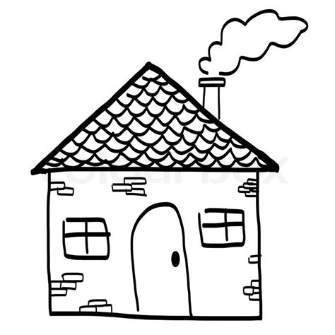drawing   house   cartoon style hand drawing sketch
