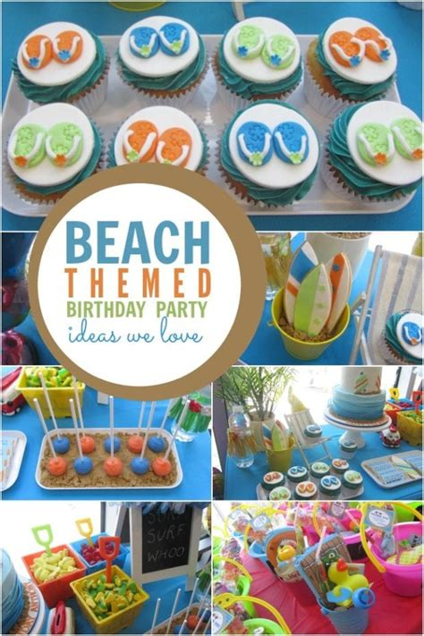 Surf, Sand And Fun A Boy S Beach Themed Birthday Party