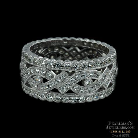 wide diamond wedding bands