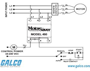 460 Volt Motor Wiring Diagram by 460 Symcom Protection Relays Galco Industrial