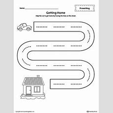 Street Line Tracing Prewriting Worksheet  Printable Worksheets