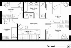 plan maison a etage 130 m2 ooreka With plan maison etage 100m2 0 plan de maison rectangulaire avec etage