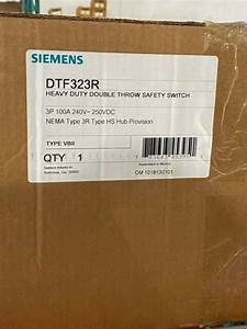 Siemens Dtf323r Double Throw Safety Switch 100a