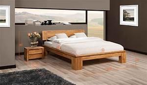 Lit Bois Massif Design : lit en ch ne massif moderne vinci haut chambre coucher haut de gamme en bois masssif ~ Teatrodelosmanantiales.com Idées de Décoration