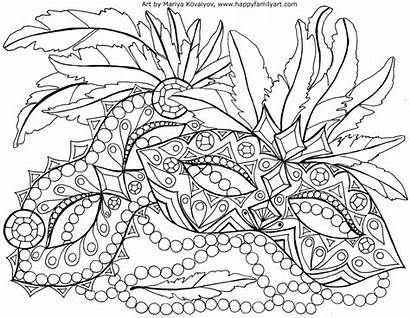 Coloring Pages Mardi Gras