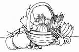 Coloring Vegetable sketch template