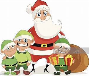 Santa Claus And His Elves Vector Art Getty Images
