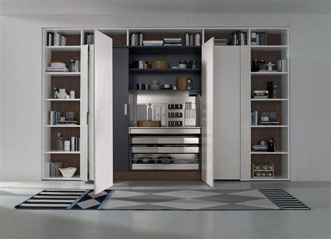 Pocket Door Kitchen Cabinets by Contemporary Italian Kitchen Space Saving Versatile
