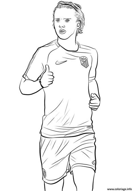 coloriage antoine griezmann joueur france coupe du monde