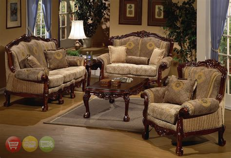 traditional settee european design formal living room set w carved wood hd 94