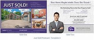 Real estate postcard just sold housslook for Real estate just sold flyer templates