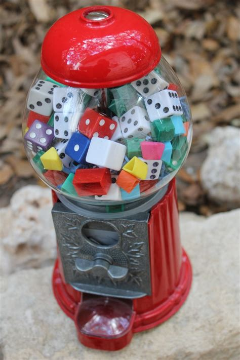 gumball machine random game pieces colorful accessory