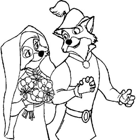 robin hood  animation movies printable coloring pages