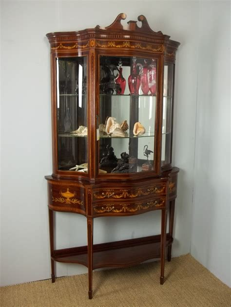 vintage display cabinets antique sted edwards mahogany marquetry 3189