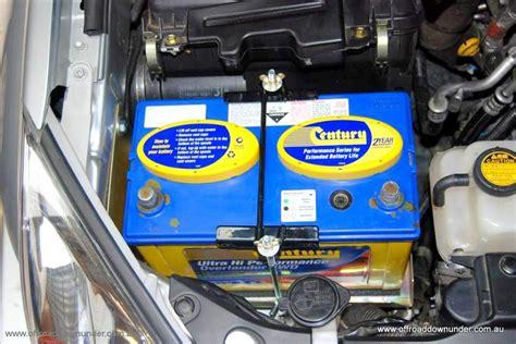 dual battery tray toyota prado 120 series petrol