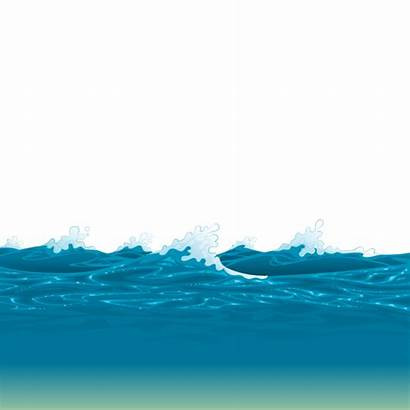 Ocean Transparent Sea Water Clipart Level Waves