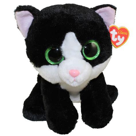 ty classic plush ava  black white cat